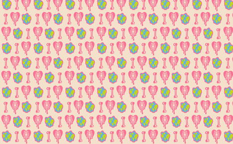 Venus Eco Punk Pattern fabric by ani_bee on Spoonflower - custom fabric