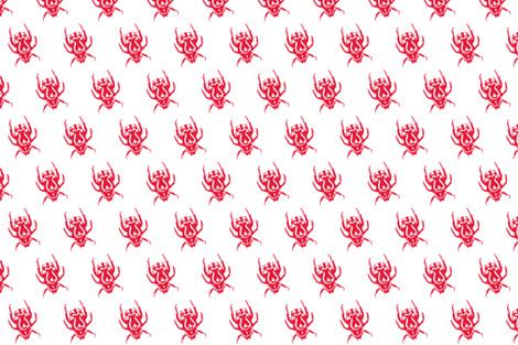 red bug fabric by g-mana on Spoonflower - custom fabric