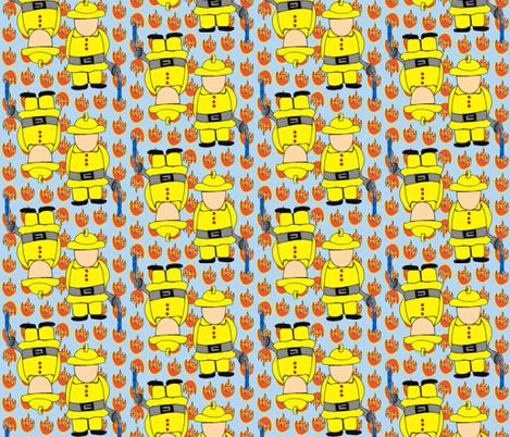 My Hero is... A Fireman! fabric by missjessm on Spoonflower - custom fabric