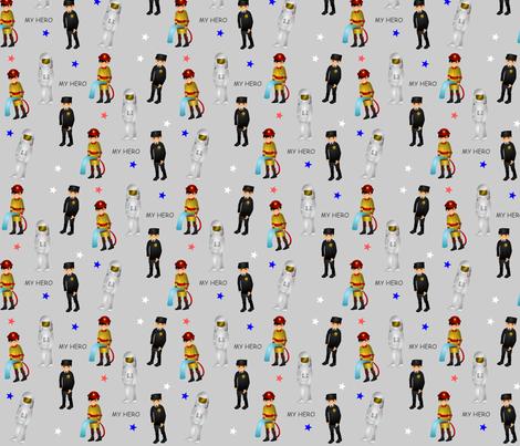 Childhood Hero's fabric by kbkline on Spoonflower - custom fabric