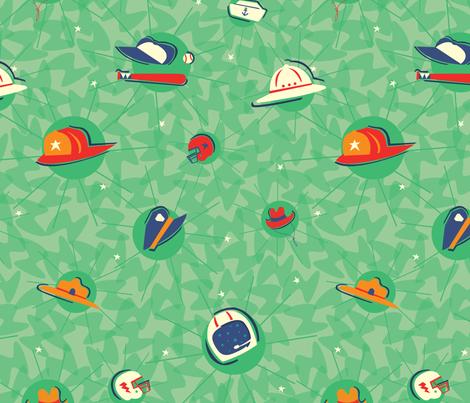 Hero Hats fabric by acbeilke on Spoonflower - custom fabric