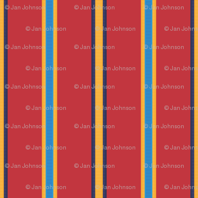 Medal Stripe - in true red