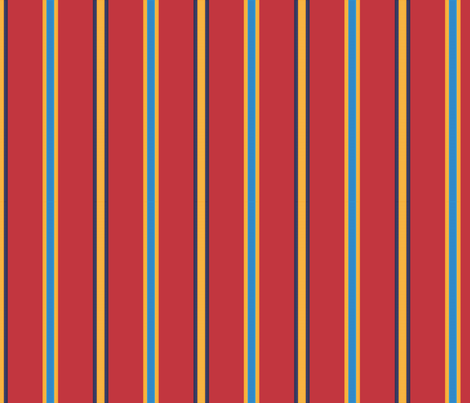 Medal Stripe - in true red fabric by hootenannit on Spoonflower - custom fabric