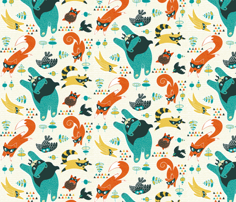 Be My Hero fabric by meliszawang on Spoonflower - custom fabric