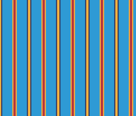 Medal Stripe - in stratosphere blue fabric by hootenannit on Spoonflower - custom fabric