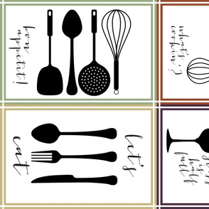 Utensils in the Kitchen Teatowel