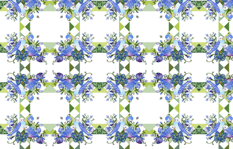 parakeets fabric by golders on Spoonflower - custom fabric