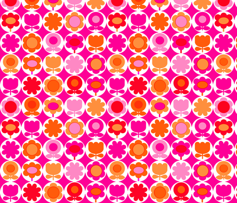mod_circles_pink fabric by aliceapple on Spoonflower - custom fabric
