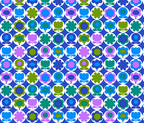 mod_circles_blue fabric by aliceapple on Spoonflower - custom fabric