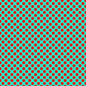 dots aqua red