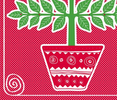 Advent calendar-calendrier de l'avent fabric by nadja_petremand on Spoonflower - custom fabric