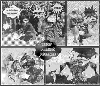 comic book Black and white smaller scale