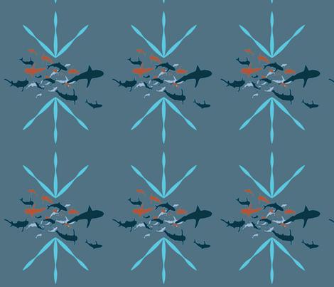 sharksblue fabric by maggie1 on Spoonflower - custom fabric