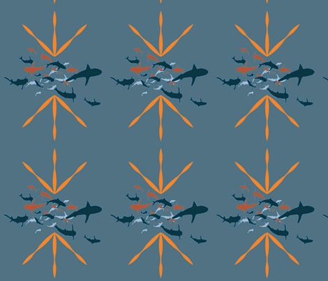 sharks fabric by maggie1 on Spoonflower - custom fabric