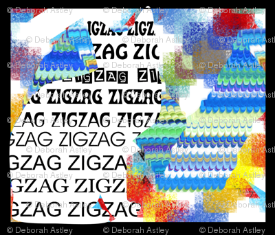 """Just ZigZag from """"Only the Cat Saw"""" (large scale design)"""