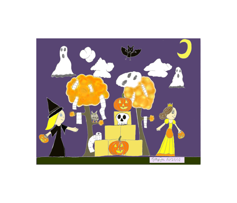 Happy_Halloween_2012_NattyJu0001_2 fabric by celestialmom75 on Spoonflower - custom fabric