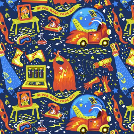 (How to) be my hero! fabric by irrimiri on Spoonflower - custom fabric