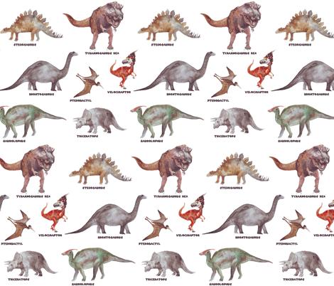 dinosaur in watercolor fabric by katarina on Spoonflower - custom fabric