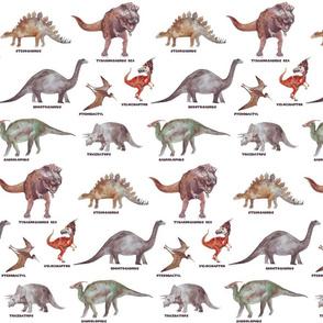 dinosaur in watercolor