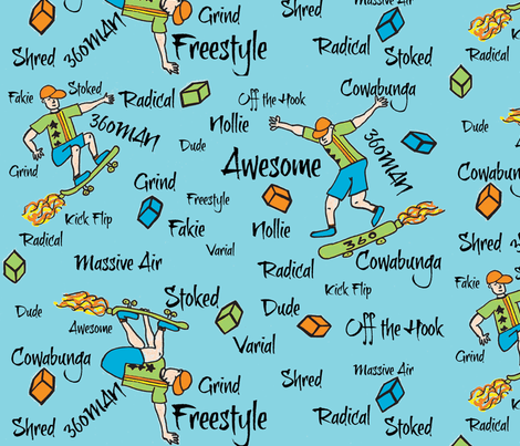 360MAN is Off the Hook fabric by dnbmama on Spoonflower - custom fabric