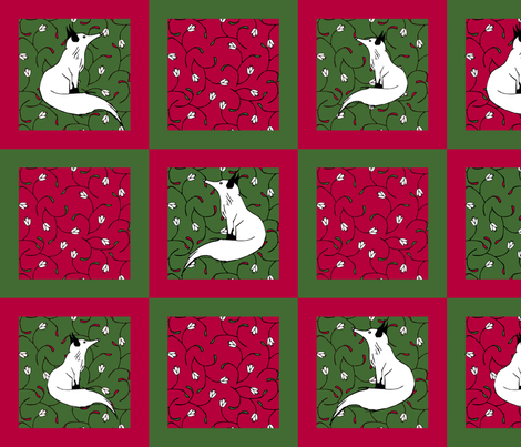 Christmas/ Winter Cocktail Napkins fabric by pond_ripple on Spoonflower - custom fabric