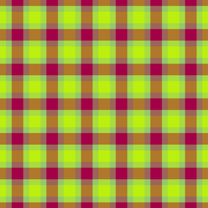 plaid green pink