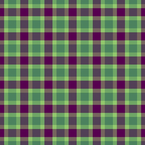 plaid green purple