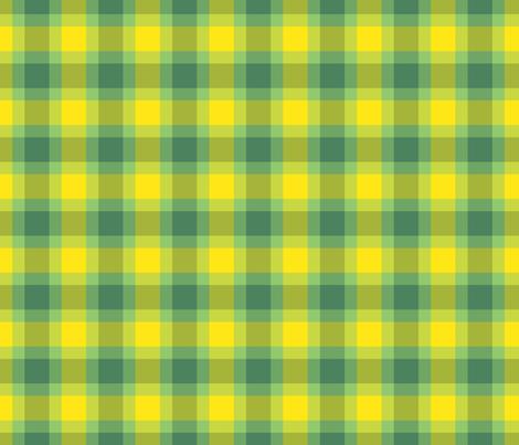 plaid yellow green fabric by casalinga_creativa on Spoonflower - custom fabric