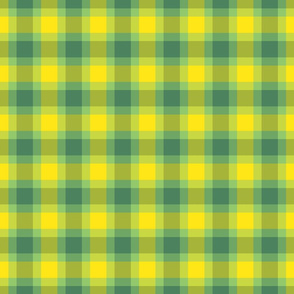 plaid yellow green