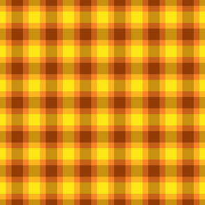 plaid yellow brown