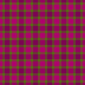 plaid pink green