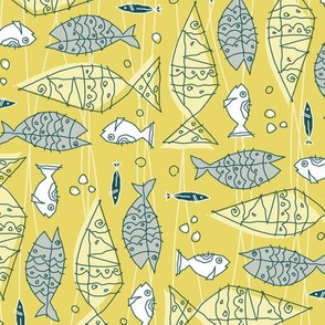 something's fishy tea towel