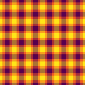 plaid yellow purple