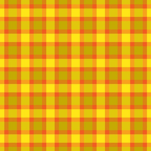 plaid yellow orange