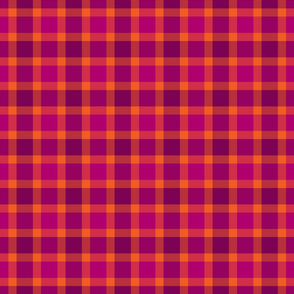 plaid pink orange