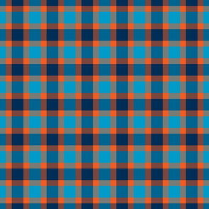 plaid blu orange