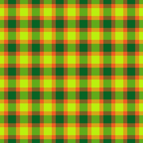 plaid green orange