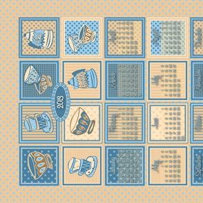 2013 chai tea tea towel calendar