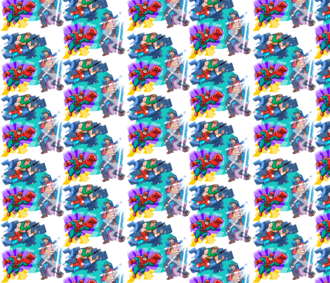 Help! Save me! fabric by scifiwritir on Spoonflower - custom fabric