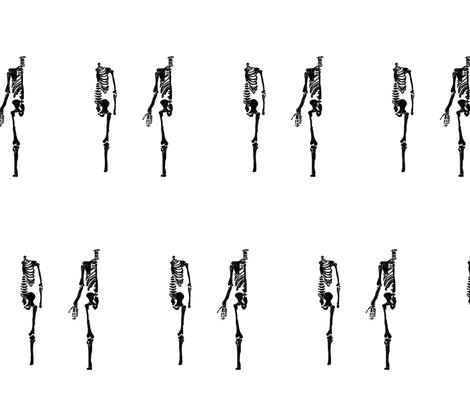 skeleton fabric by amandamaddox on Spoonflower - custom fabric