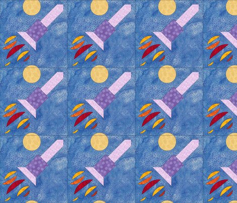 rocket fabric by quiltpatch_girl on Spoonflower - custom fabric