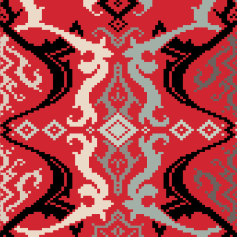 FF-12-TEX-301-Fusion_graph_Red fabric by modernprintcraft on Spoonflower - custom fabric