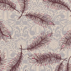 Paisley Feather Medallion Natural