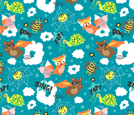 A Misfit of Superheroes! fabric by myzoetrope on Spoonflower - custom fabric