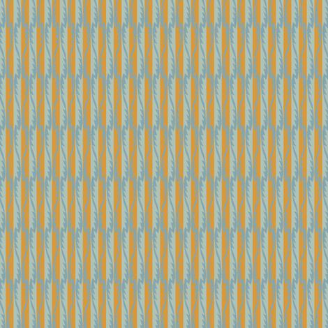 Gypsy Leaf Stripe slate fabric by modernprintcraft on Spoonflower - custom fabric