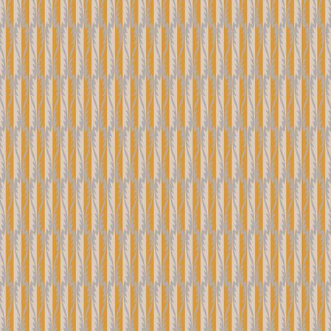 Gypsy Leaf Stripe golden fabric by modernprintcraft on Spoonflower - custom fabric