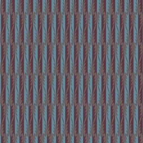 Gypsy Leaf Stripe plum