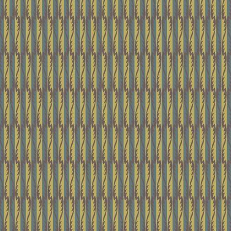 Gypsy Leaf Stripe muted fabric by modernprintcraft on Spoonflower - custom fabric