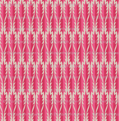 Gypsy Leaf Stripe pinks