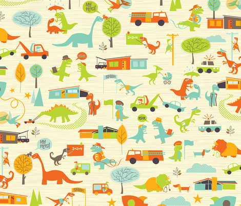 Hero-saurus fabric by jennartdesigns on Spoonflower - custom fabric